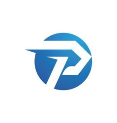 P logo templatev vector image