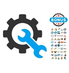 Service tools icon with 2017 year bonus symbols vector