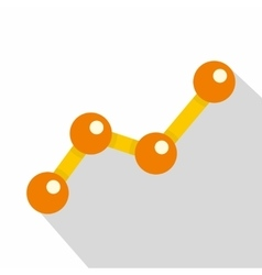 Chart statistics line icon flat style vector image