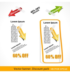 Discount pack vector image