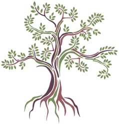Beauty stylized tree vector