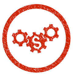 Business gears rounded grainy icon vector