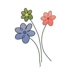 icon flower vector image