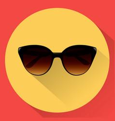 sun glasses for women flat icon vector image