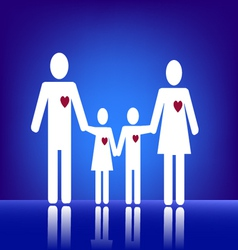 Family with heart vector