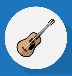 Of multimedia symbol on guitar vector