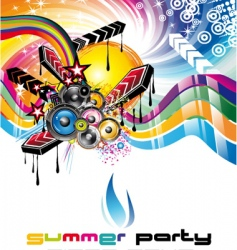 Music background for discoteque flyers vector