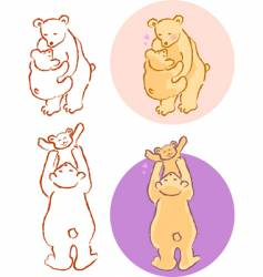 Bear family vector