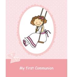 girl swinging vector image