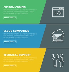 Flat design concept for coding cloud computing vector