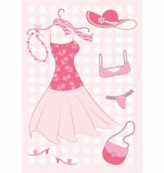 Summer fashion vector