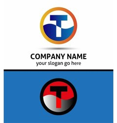 Letter t logo symbol template elements vector
