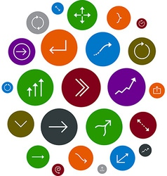 Cloud set of round modern arrow icons vector