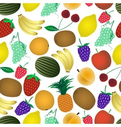 Colorful various fruit summer seamless pattern vector