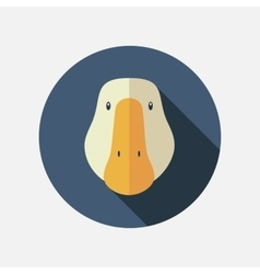 Goose flat icon with long shadow vector