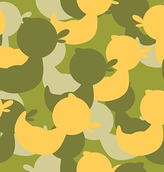 Military camouflage rubber ducks military texture vector