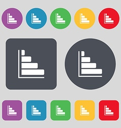 Infographic icon sign a set of 12 colored buttons vector