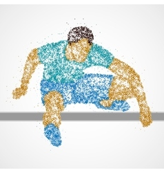 Abstract athlete jump vector