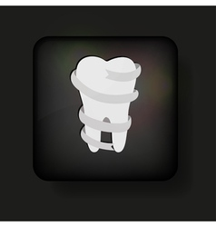 Tooth button vector