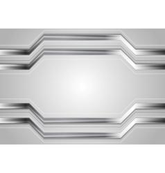 Minimal abstract technology metallic vector
