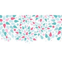 abstract colorful drops horizontal seamless vector image