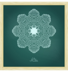 Amazing mandala of lilac flowers vector