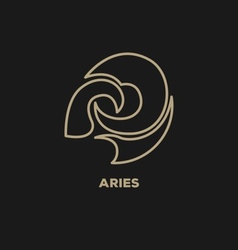 Aries horoscope icon vector