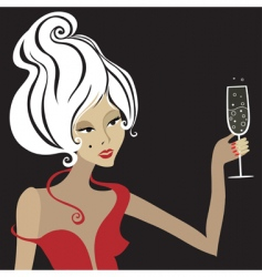 blond woman vector image vector image