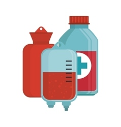 Blood donation bag bottle medical vector