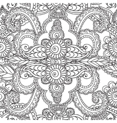 Coloring pages for adults seamles henna mehndi vector