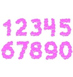 Cool sweet numbers vector image vector image