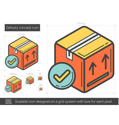 Delivery concept line icon vector