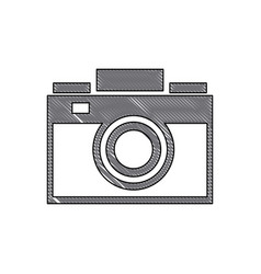 drawing photo camera picture device flash lens vector image vector image