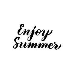 enjoy summer handwritten lettering vector image
