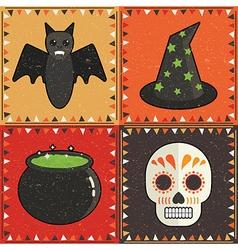 halloween ornaments vector image