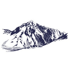 Hand sketch of winter mountains vector image vector image