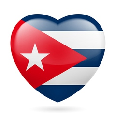 Heart icon of cuba vector