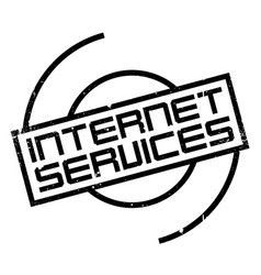 Internet services rubber stamp vector