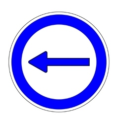 Keep Left sign on white background 703 vector image