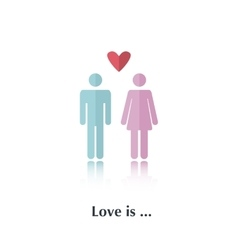 Love is vector image