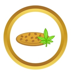 Marijuana seeds icon vector