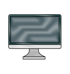 Monitor computer desktop isolated icon vector
