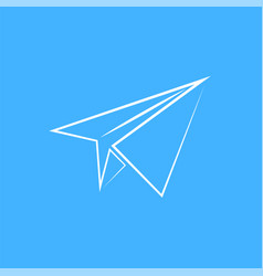 paper plane isolated vector image vector image