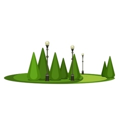 Park recreation area vector
