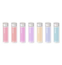 Perfume package tube no label colorful set vector