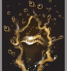 realistic champagne soda liquid splash vector image vector image