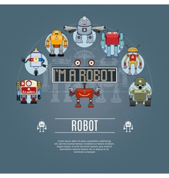 Robot Concept Icons vector image