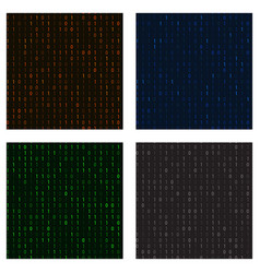 set of seamless patterns in a matrix of ones and vector image vector image