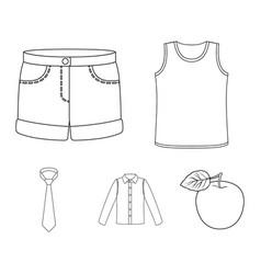 shirt with long sleeves shorts t-shirt tie vector image