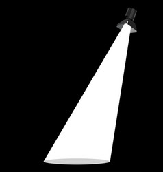 Spot light on dark background vector